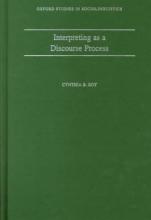 Roy, Cynthia B Interpreting as a Discourse Process