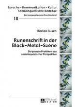 Busch, Florian Runenschrift in der Black-Metal-Szene