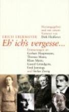Ebermayer, Erich Eh` ichs vergesse