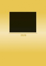 Foto-Bastelkalender 2020 gold datiert