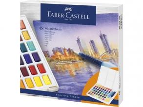 , Waterverf Faber-Castell in box met 48 kleuren