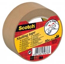 , Verpakkingstape Scotch P5050 50mmx50m bruin papier