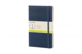 , Moleskine Notitieboek Large (13x21 cm) Blanco Harde Kaft Sapphire Blauw