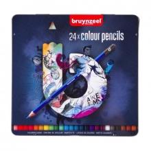 , Kleurpotloden Bruynzeel Teens 24stuks blauw blik assorti