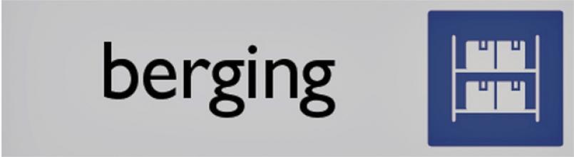 , Infobord pictogram berging 165x44mm