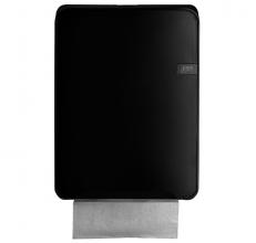 , Dispenser Euro Quartz vouwhanddoeken C-vouw zwart