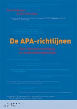 Olav Severijnen Petra Poelmans, De APA-richtlijnen