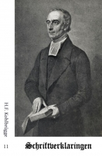 H.F. Kohlbrügge , Schriftverklaringen 11