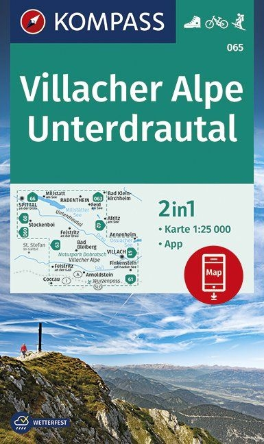 ,Villacher Alpe, Unterdrautal 1:25 000