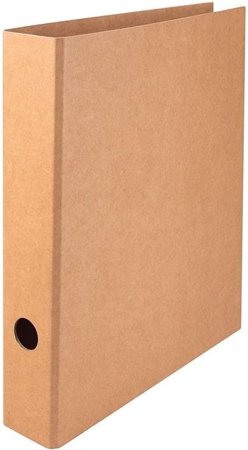 ,Ordner Quantore A4 50mm kraft bruin