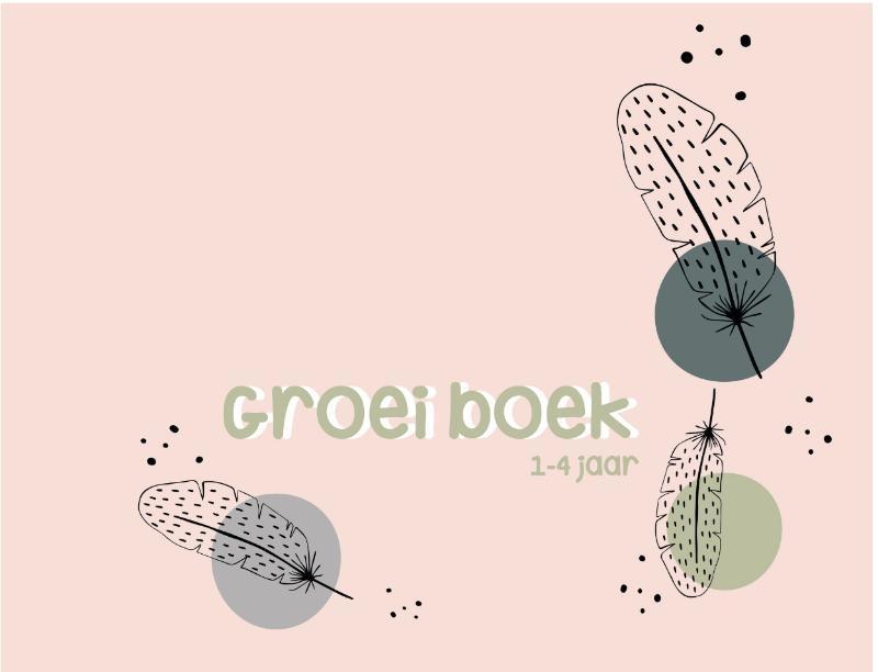 ,Groeiboek 1-4 jaar