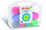 ,PRIMO - Koffer met 12 kleuren plakkaatverf