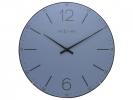 ,Wandklok NeXtime dia. 35 cm, bol glas, blauw, `Index Dome`