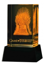 Game of Thrones 3D Crystal Iron Throne With Lighted Base
