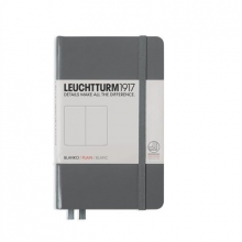 Lt344779 , Leuchtturm notitieboek pocket 90x150 blanco anthraciet