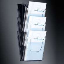 , folderhouder Sigel wandmodel 3xA4 transparant acryl