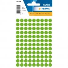 , Etiket Herma 1848 rond 8mm fluor groen 540stuks