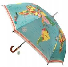 Paraplu heren vintage world map
