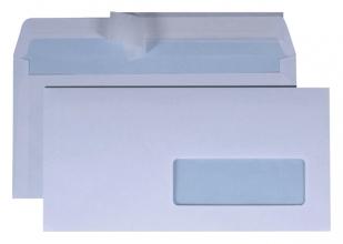, Envelop Quantore 114x229mm venster 4x11cm rechts zelfk 50st