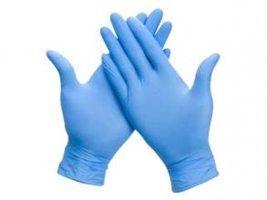 , Handschoen Comfort nitril L blauw 100 stuks