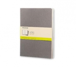 Moleskine Pebble Grey Plain Cahier Extra Large Journal (3 Se