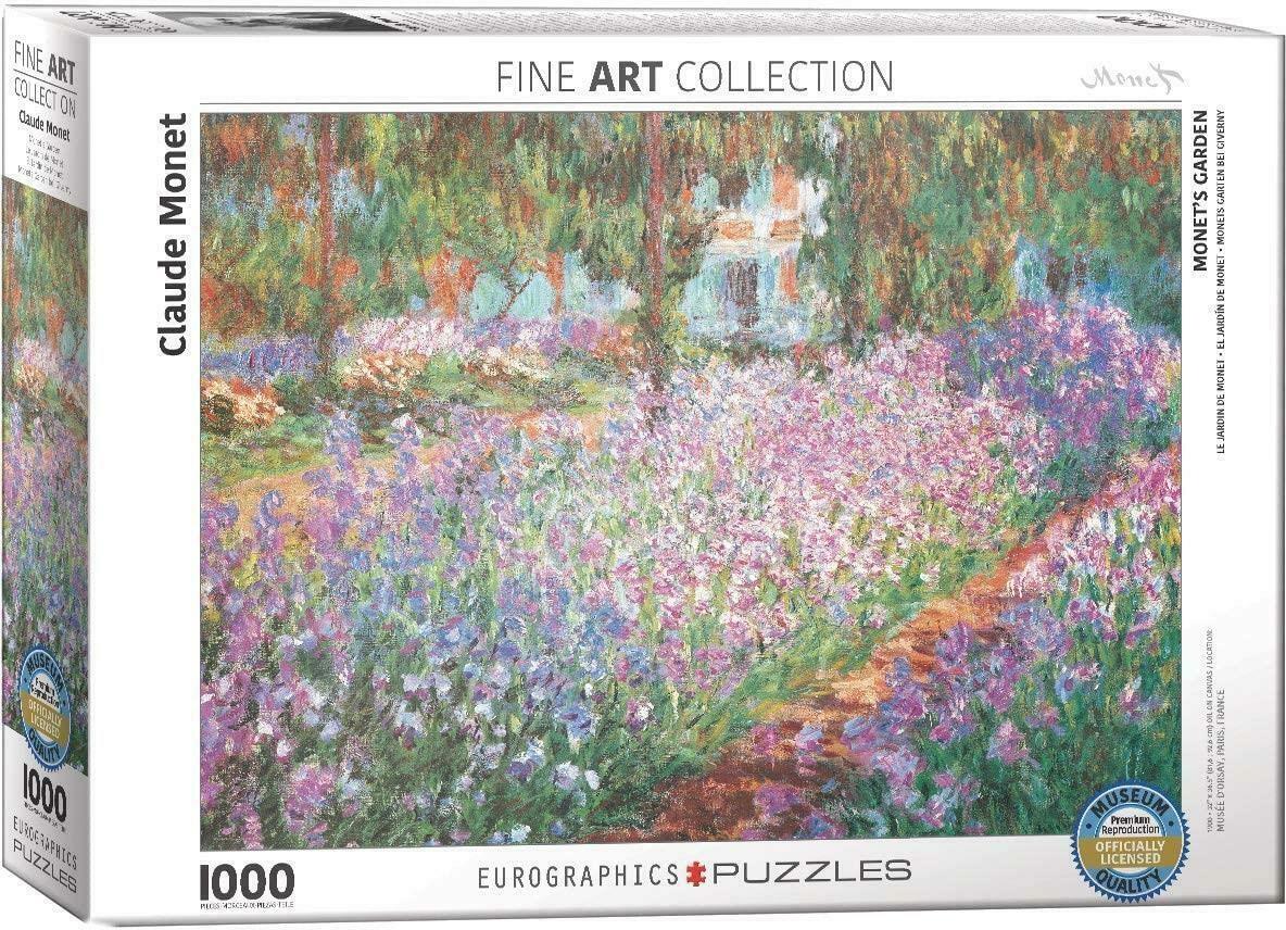 Eur-6000-4808,Puzzel monet`s garden- claude monet- eurographics - 1000 stuks 48x68 cm