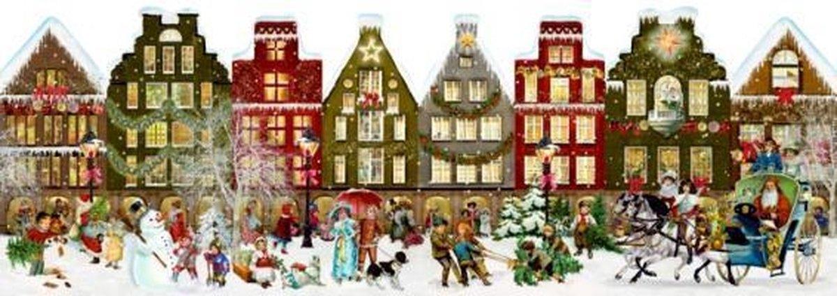 ,Nostalgisches Häuserleporello Adventskalender