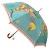 , Paraplu heren vintage world map
