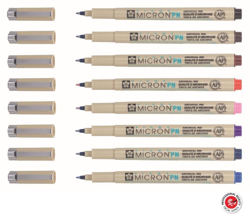 ,Fineliner Sakura pigma micron 0.4mm blister à 8 stuks assorti