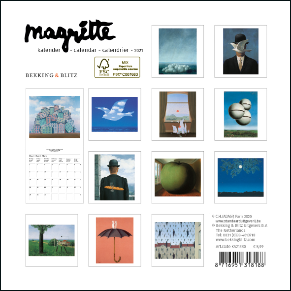 ,Magritte mini maandkalender 2021