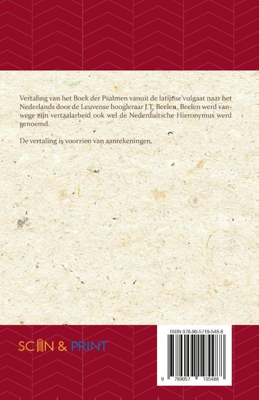 J.T. Beelen,Het Boek der Psalmen 76-150