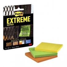 , Memoblok Post-it Extreme 76x76mm 3 kleuren assorti