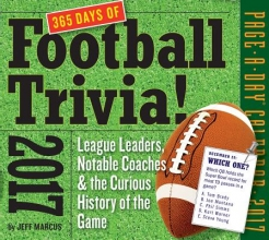 Marcus, Jeff 365 Days of Football Trivia! 2017 Calendar
