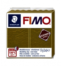 , Klei Fimo  leather-effect 57 gr olijf