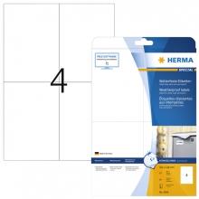 , Etiket Herma 4598 105x148mm A4 40st folie wit