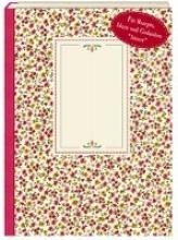 NoteBook - Wachstuch Rote Blümchen