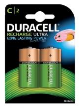 , Batterij oplaadbaar Duracell 2xC 3000mAh Plus