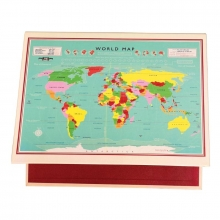 Ringmap vintage world map
