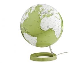 , globe Bright Pistachio 30cm diameter kunststof voet met     verlichting