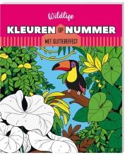 , Kleurboek Interstat kleuren op nummer Wildlife