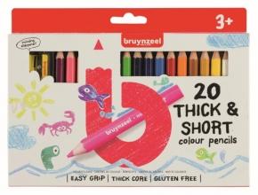 , Bruynzeel Kids 20 korte kleurpotloden +slijper