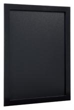 , Krijtbord Securit wand 30x40cm zwart hout