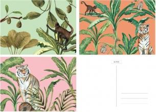 &INK Wenskaarten set - 15 stuks - Botanisch - Jungle - blanco