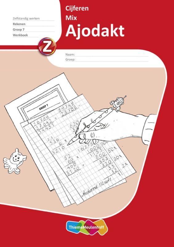 ,Ajodakt Rekenen Cijferen Mix 5 ex Groep 7 Werkboek
