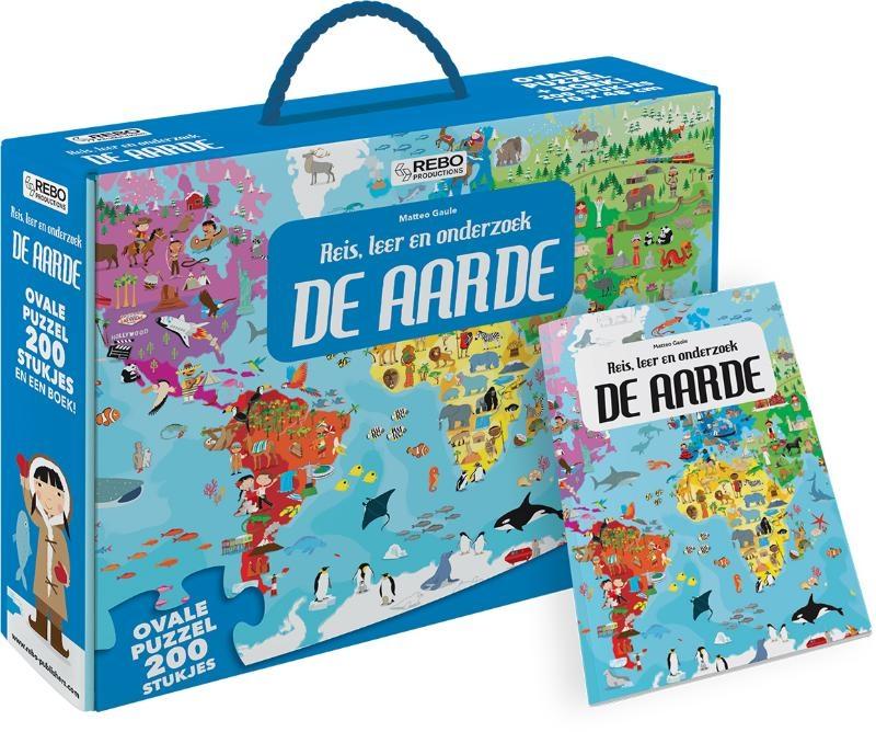,De Aarde - puzzel 200 stukjes en boek