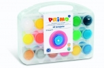 ,PRIMO - Set van 18 potten plakkaatverf 25ml (normaal, fluor