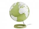 ,globe Bright Pistachio 30cm diameter kunststof voet met     verlichting