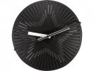 ,Wandklok NeXtime dia. 30 cm, metaal, zwart/wit, `Kinegram   Star`