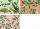 ,&INK Wenskaarten set - 15 stuks - Botanisch - Jungle - blanco