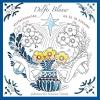 Annemarie  Vermaak,Delfts Blauw winterkaarten om in te kleuren